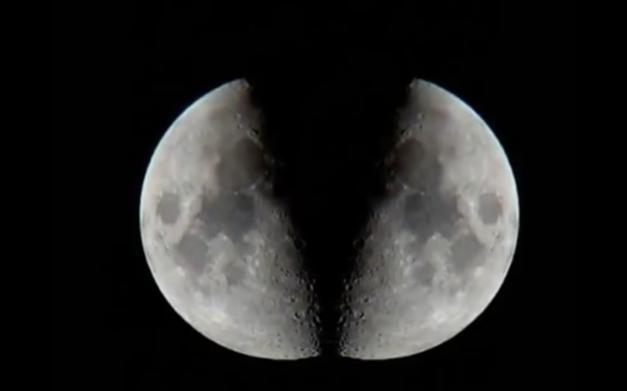 انشقاق القمر من ناسا