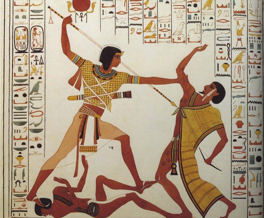 موسي يقتل عدوه نصره لاخيه